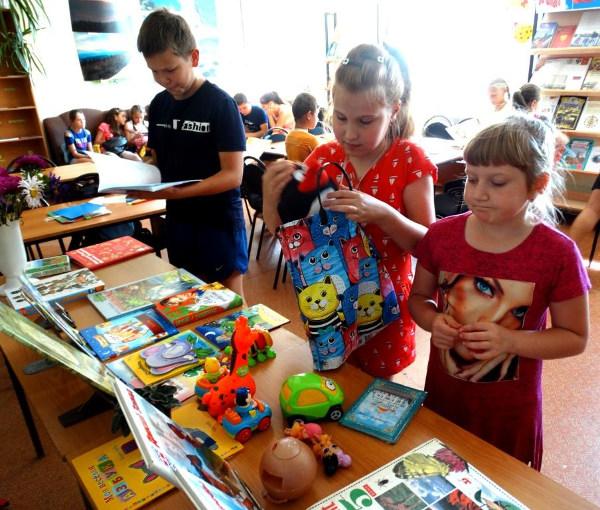 Детский фримаркет в библиотеке