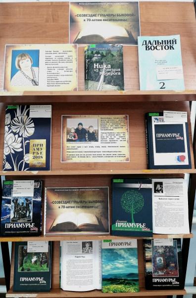 Книжная выставка «Созвездие Гульчеры Быковой»