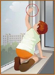 Внимание! Открытое окно или москитная сетка — опасность для детей!